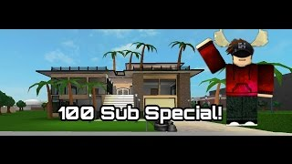 Bloxburg Speedbuild|100 Subscriber Special|Beach Villa|Part 1