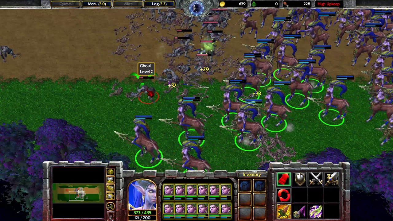 Warcraft 3 Reforged - Dryad vs Ghouls