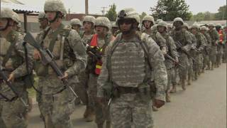 Army National Guard Basic Training Footage
