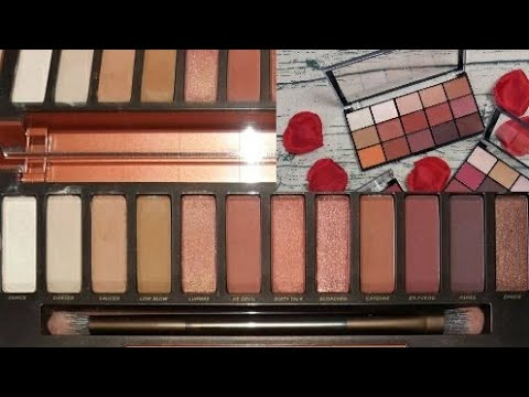 Urban Decay Naked Heat VS Makeup Revolution's Iconic Reloaded Fever Palette... is it really a dupe?