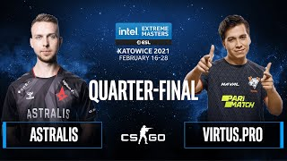 CS:GO - Astralis vs. Virtus.pro [Overpass] Map 1 - IEM Katowice 2021 - Quarter-final