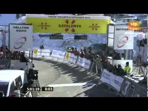 Momento del Triunfo Nairo Quintana en Volta a Catalunya - Etapa 3 - Instantes Finales