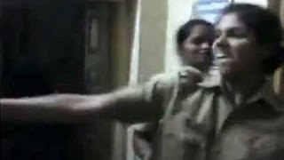 Lady SI and Constables Dancing in PS - Caught on Secret cam