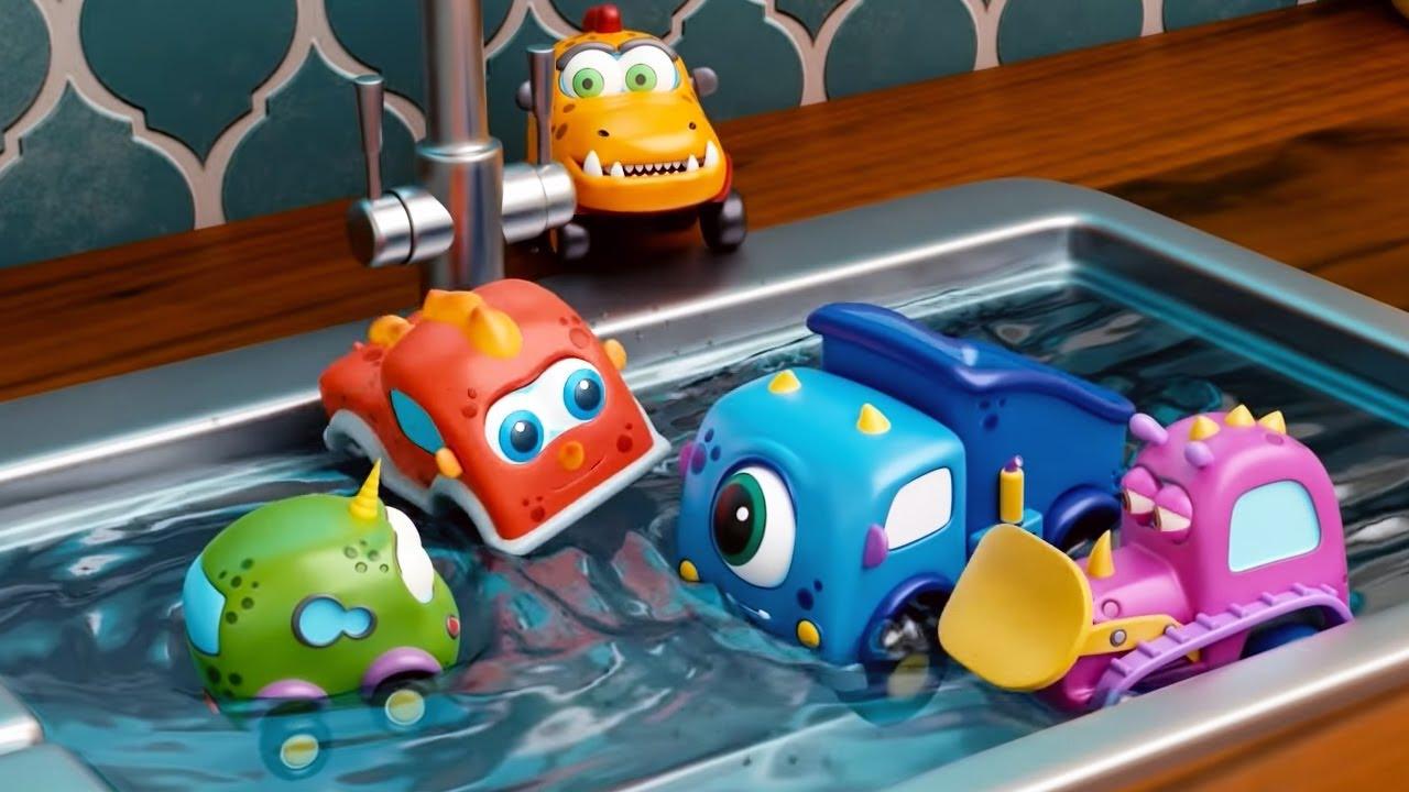 Машинки Мокас 🚕 Грязная посуда 🚙 Развивающие мультики для детей и малышей 🚗
