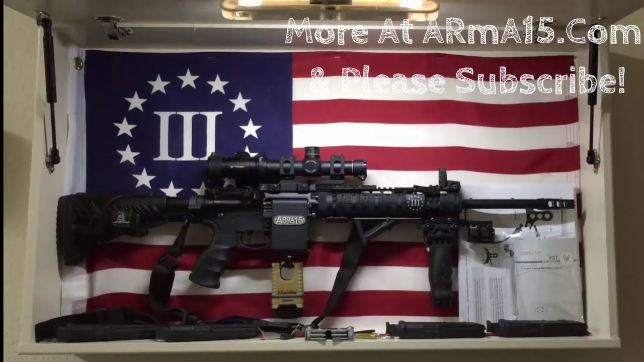 Ar15 Hidden On Arma15 Wall Mount Rack Usa Flag Diy Design