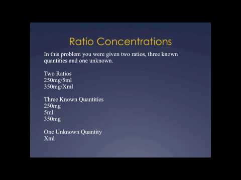 Pharmacy Technician Math Review Ratio Concentrations Youtube
