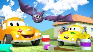 Малыш Гектор летучая мышь - Малярная Мастерская Тома в Автомобильный Город 🎨 детский мультфильм