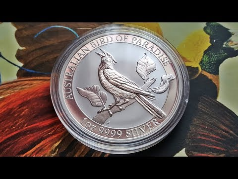 2019 Australian Bird Of Paradise Manucodia 1oz Silver Bullion Coin