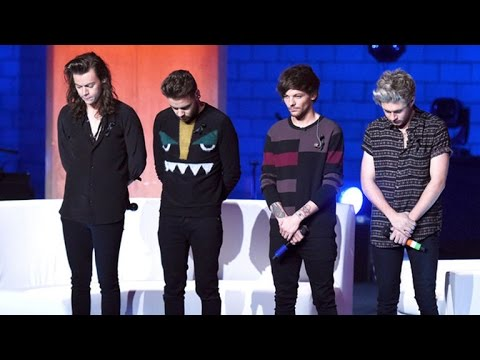 One Direction Pays Respect to Victims of Paris Terrorist Attacks On Stage in London