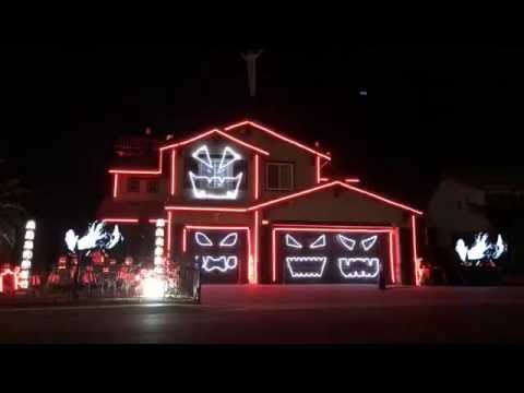 This is Halloween - Halloween Light Show House 2016 Riverside
