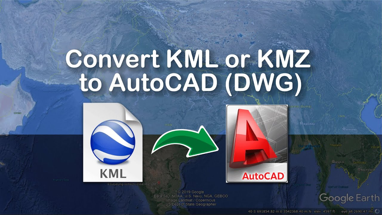 Convert kml or kmz to autocad dxf youtube for Kmz to dxf