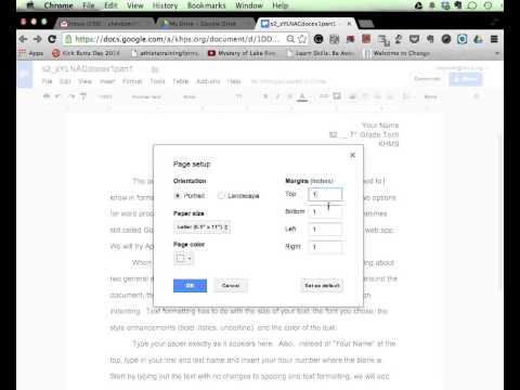 Margin Controls Tutorial   Google Docs