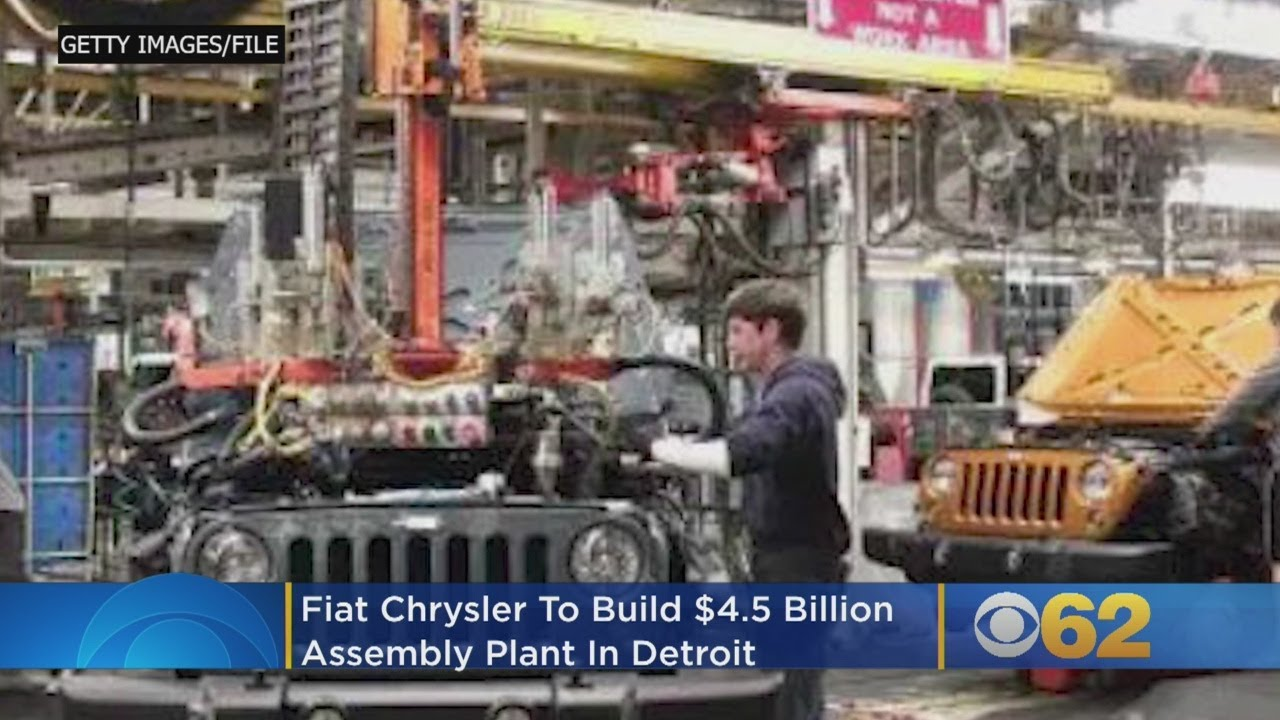 fiat chrysler to build $4.5b assembly plant, creating 6,500 jobs in