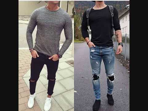 t shirts styl manches longues pour homme youtube. Black Bedroom Furniture Sets. Home Design Ideas
