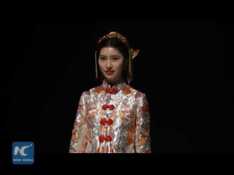 Art On Wedding Dress! Watch Chinese Traditional Wedding Dresses With Stunning Embroidery