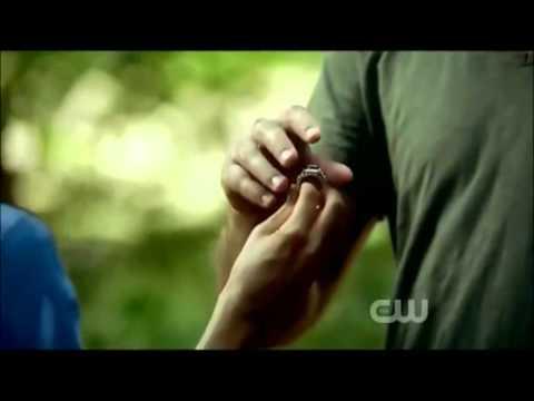 The Vampire Diaries season 3 episode 2 Damon pushes Elena into the lake & agrees to help her
