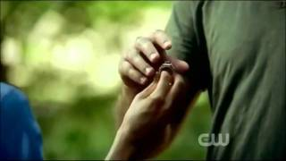 The Vampire Diaries season 3 episode 2 Damon pushes Elena into the lake & agrees to help her