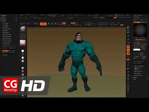 CGI 3D Tutorial HD: Posing a ZBrush Character with ZSpheres and Masking
