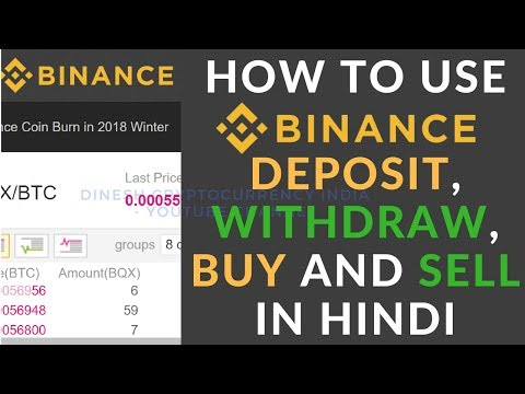 How to BUY, SELL, DEPOSIT AND WITHDRAW using Binance in