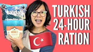 🇹🇷TURKISH 24-Hour MRE Ration Taste Test
