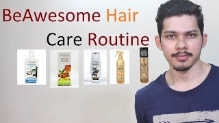 My Hair Care Routine For The Week| Patanjali | Schwarzkopf| Gatsby | Set Wet | BeAwesome