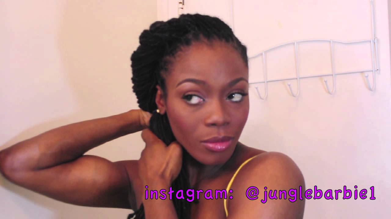 Easy Summer Loc Hairstyle Tutorial Ft Twist And Plait Jungle Barbie