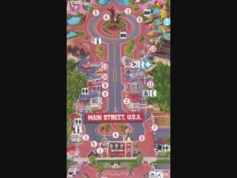 Disneyland Usa Map.Main Street Usa Map Youtube