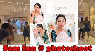 Samantha joy Behind Scenes Photoshoot Samantha Akkineni Oh Baby