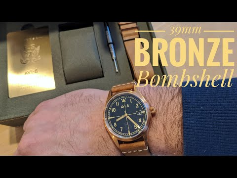 Checking Out The 39mm Bronze Eagle Squadron Auto