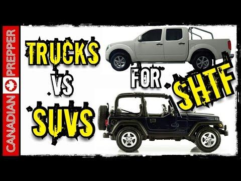 SHTF Bug Out Vehicles: Trucks VS SUV