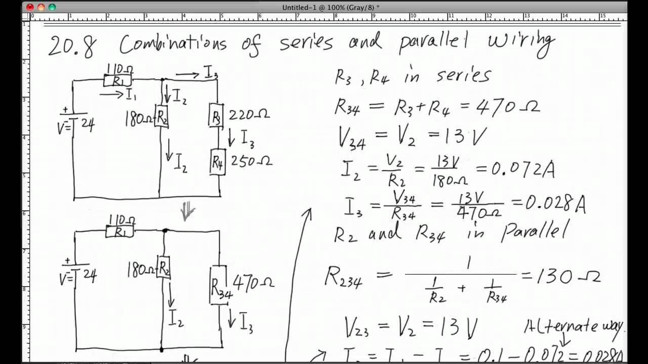 combination of series and parallel circuits youtube rh youtube com Series Parallel Circuit Problems Parallel Circuit Calculator