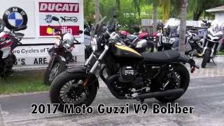 2017 Moto Guzzi V9 Bobber Black at Euro Cycles of Tampa Bay
