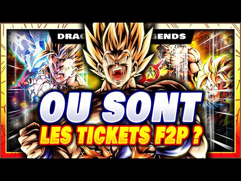 OÙ SONT LES TICKETS F2P ? LEGENDS PREMIUM VOL 3 ! DRAGON BALL LEGENDS FR