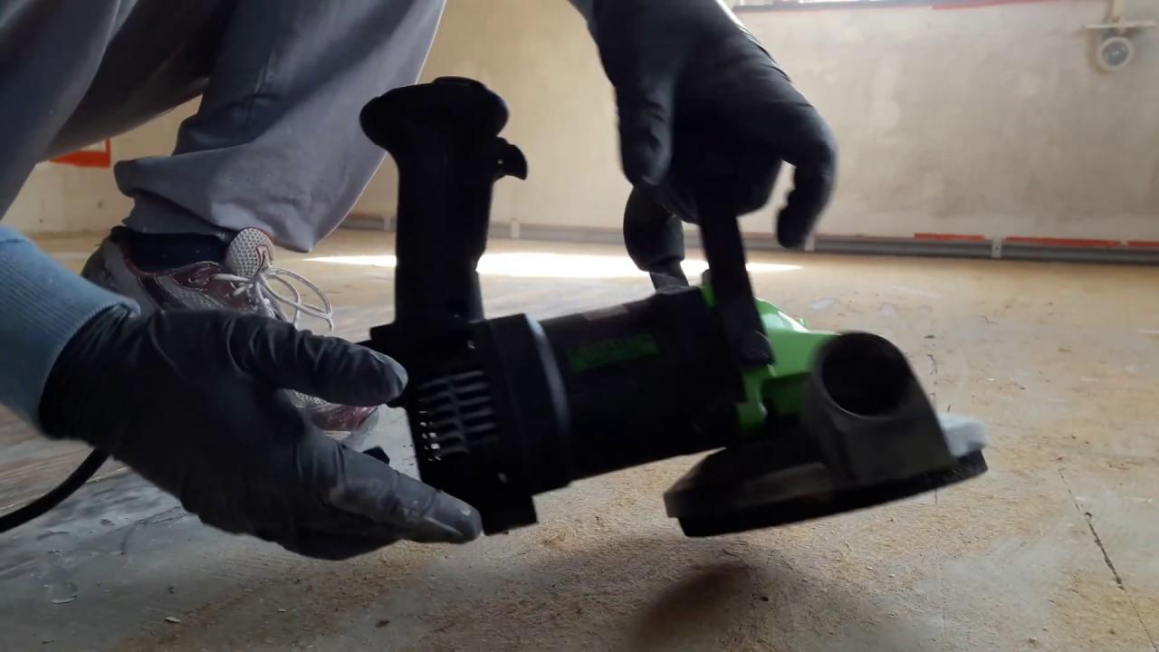 Favorit Kleber von Dielenboden Holzboden entfernen mit Betonfräse - YouTube TM42