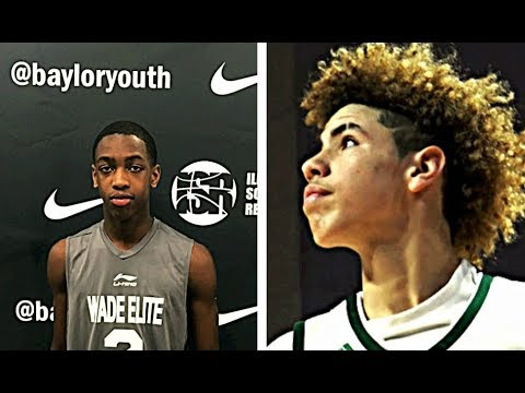 D-Wade's Son Zaire Wade vs Lamelo Ball Basketball Highlights Mix