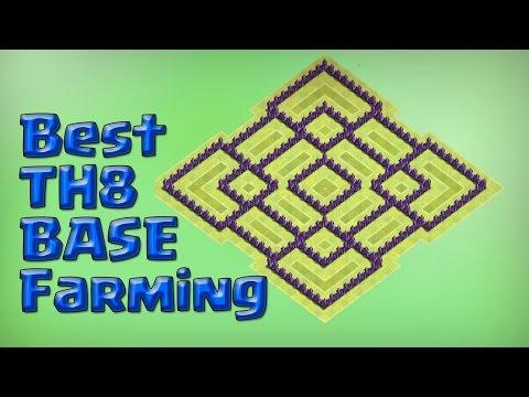 Town Hall 8 farming Base | Hybrid, Defense base New Update 2016
