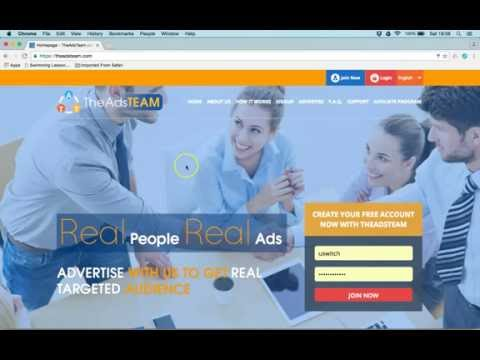 The AdsTeam | How to signup , edit profile , buy adpack and services full presentation