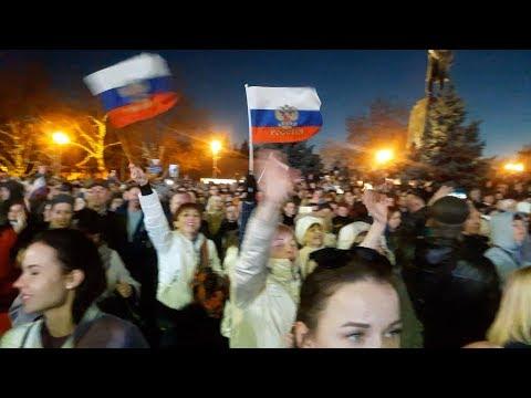 5 лет Крым с Россией! Как встречают В.В.Путина в Севастополе!
