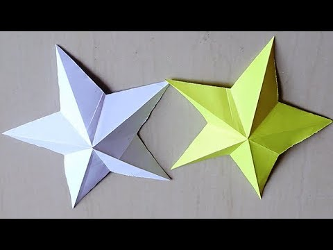 DIY - How to make simple & easy paper star | DIY Paper Craft Ideas for kids