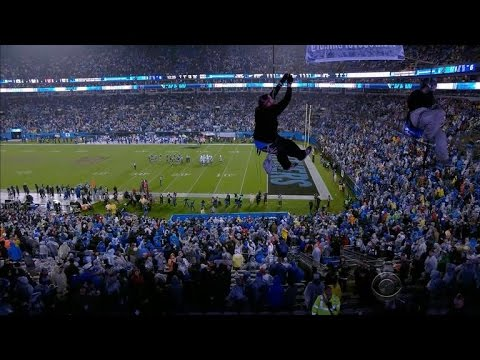 Nfl Security Questioned After Protesters Rappel Inside