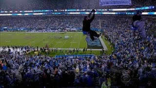 NFL security questioned after protesters rappel inside Carolina Panthers stadium