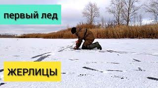 Первый лед, зимняя рыбалка 2020, ловля щуки на жерлицы