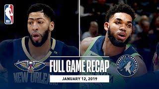 Full Game Recap: Pelicans vs Timberwolves   Karl-Anthony Towns Grabs Career-High 27 Rebounds