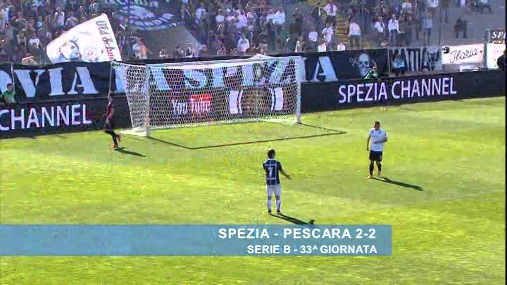 Spezia - Pescara 2-2 - YouTube