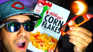 How To Make Solar Eclipse Box Viewer From a Cereal Box!! Cooler than Glasses!