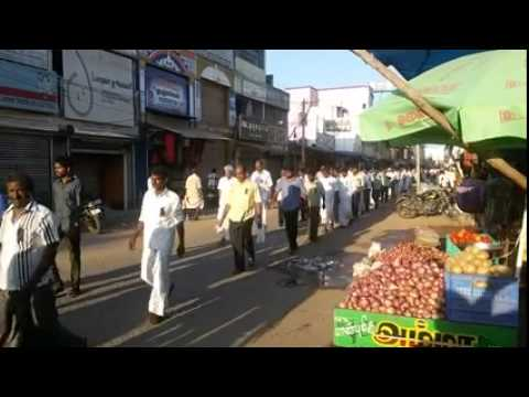 Silent Procession for Lee Kuan Yew in Tamilnadu, India