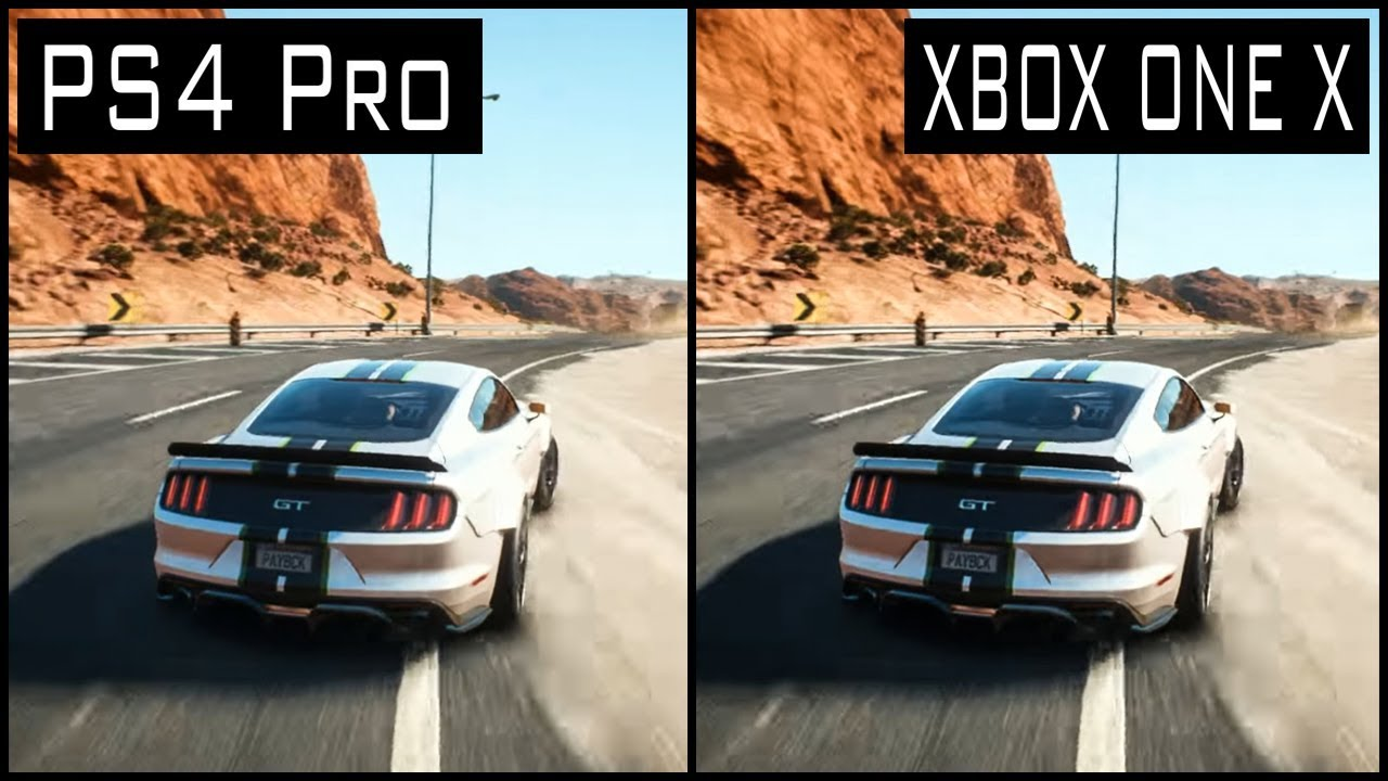 need for speed payback xbox one x vs ps4 pro graphics. Black Bedroom Furniture Sets. Home Design Ideas