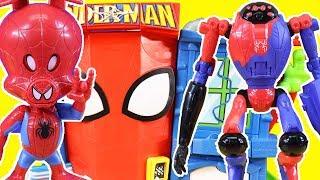 Marvel Spider-Man Mega Battle + Spider-Ham Ultra Web Slinger ! Superhero Toys