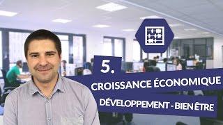 Chapitre 5 : Croissance économique, développement, bien être
