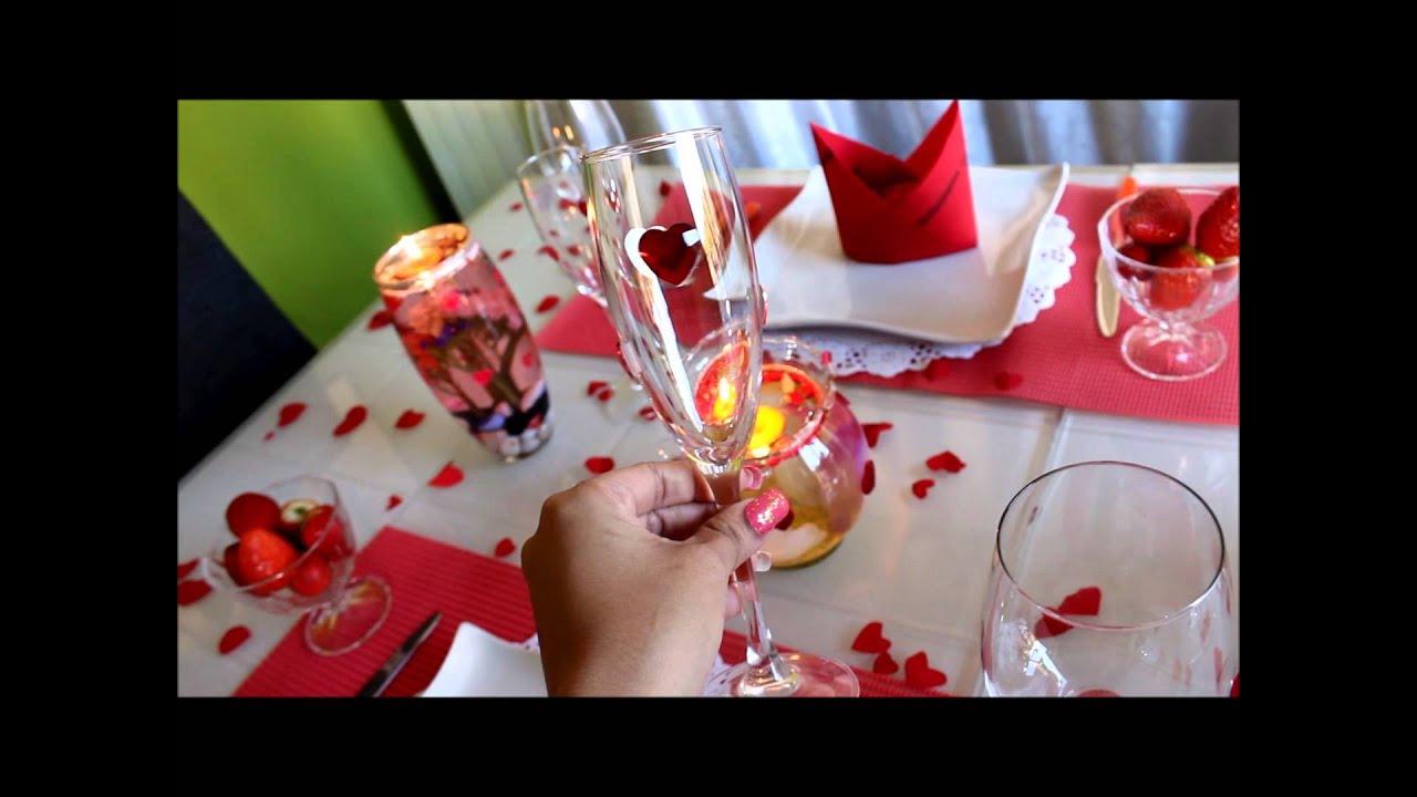 Mesa decorada para o dia dos namorados san valentin youtube for Mesa para san valentin